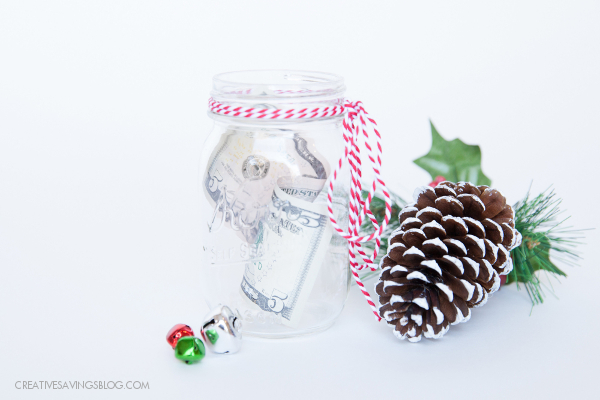 christmas savings plan ideas   Money in a jar