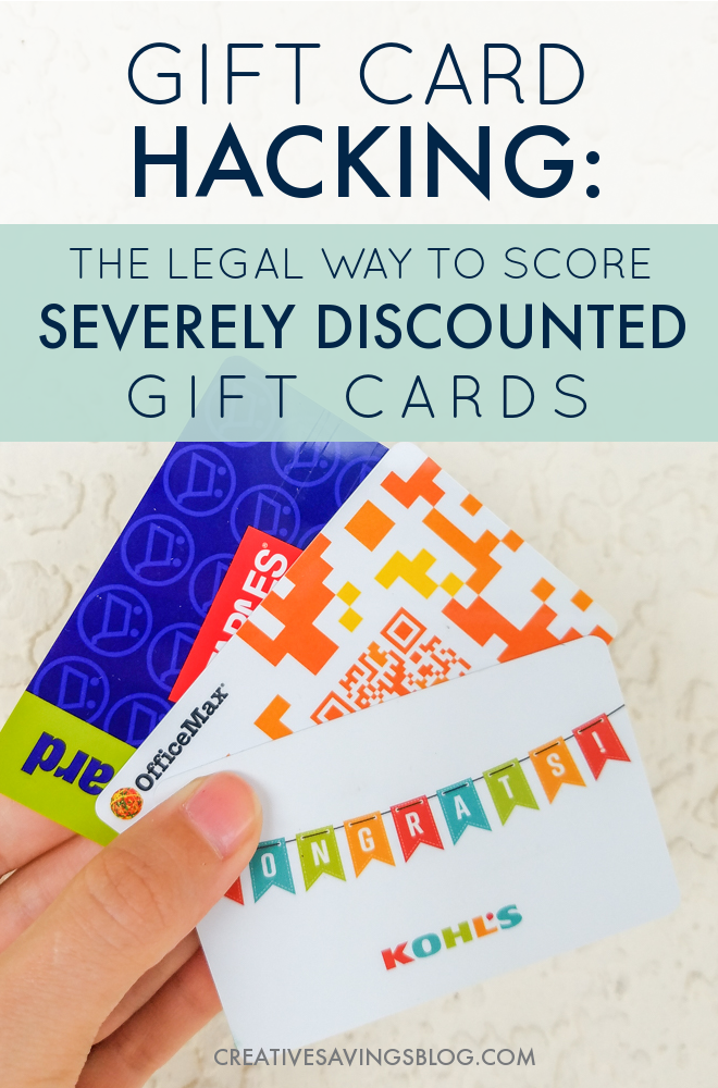 Fund your gift purchases, restaurant meals, and even your grocery budget with discounted gift cards! Here's how to score savings on top of savings....and it's totally legal. #giftcardhacking #giftcards #discountedgiftcards #raise