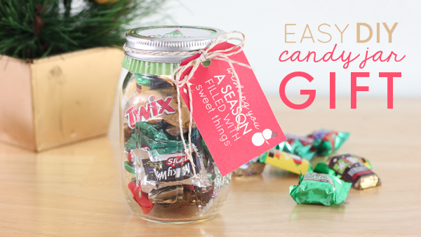 Candy Jar Decorations Adorable Supereasy Diy Candy Jar  With Cute Printable Gift Tags Review