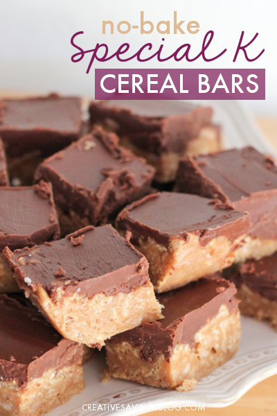 Don't forget to add no-bake Special K bars to your Holiday cookie platter. Everyone raves about these crunchy treats—they're THAT GOOD! #holidaybars #holidaybarrecipe #specialkcerealbars #nobakebars