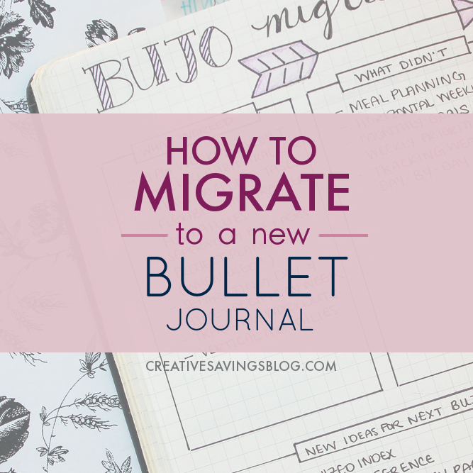 How to Migrate to a New Bullet Journal