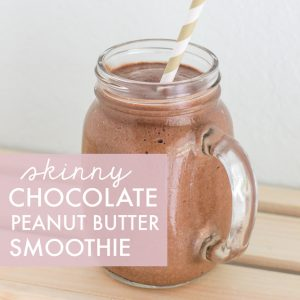 Skinny Chocolate Peanut Butter Smoothie