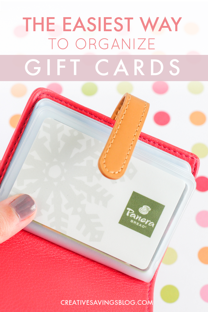 This adorable gift card organizer keeps track of all your cards dont throw away free money because you forgot to use your gift cards negle Image collections
