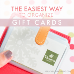 The Easiest Way to Organize Gift Cards