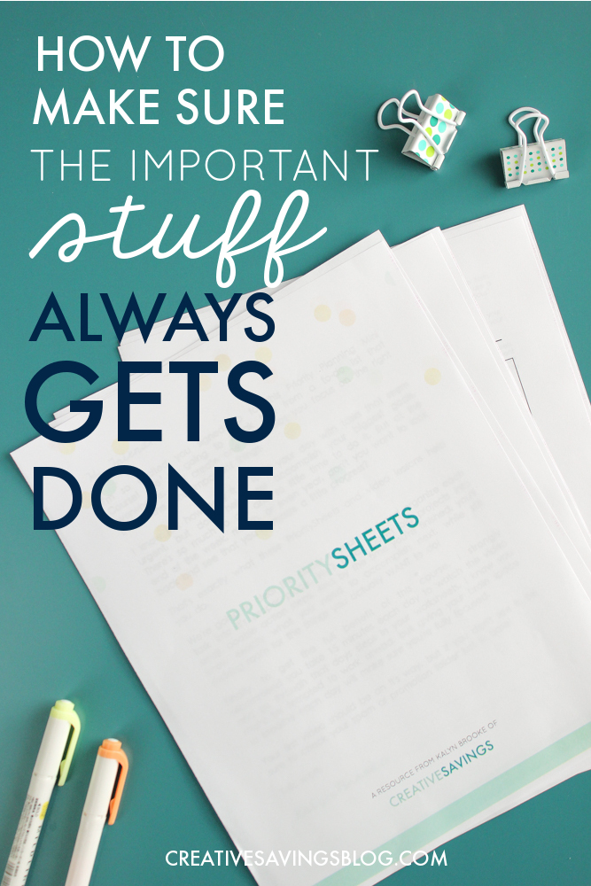 I REALLY needed this. I struggle to get things done on a daily basis because I'm so overwhelmed with the sheer volume of my to-do list. The priority planning worksheets she included in her mini course are phenomenal! They helped me brain dump all the noise in my head, organize it, and then plan everything out. I really hope this blogger creates a planner sometime, because I would totally buy it!