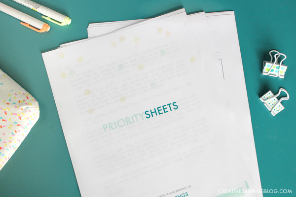 Get Things Done - Priority Sheets