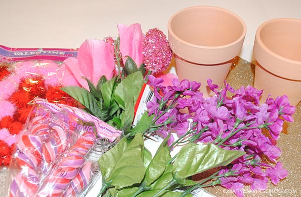 Lollipop Flower Pot - Valentines Day Crafts for Kids