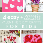 4 Easy {and Insanely Adorable} Valentine's Day Crafts for Kids