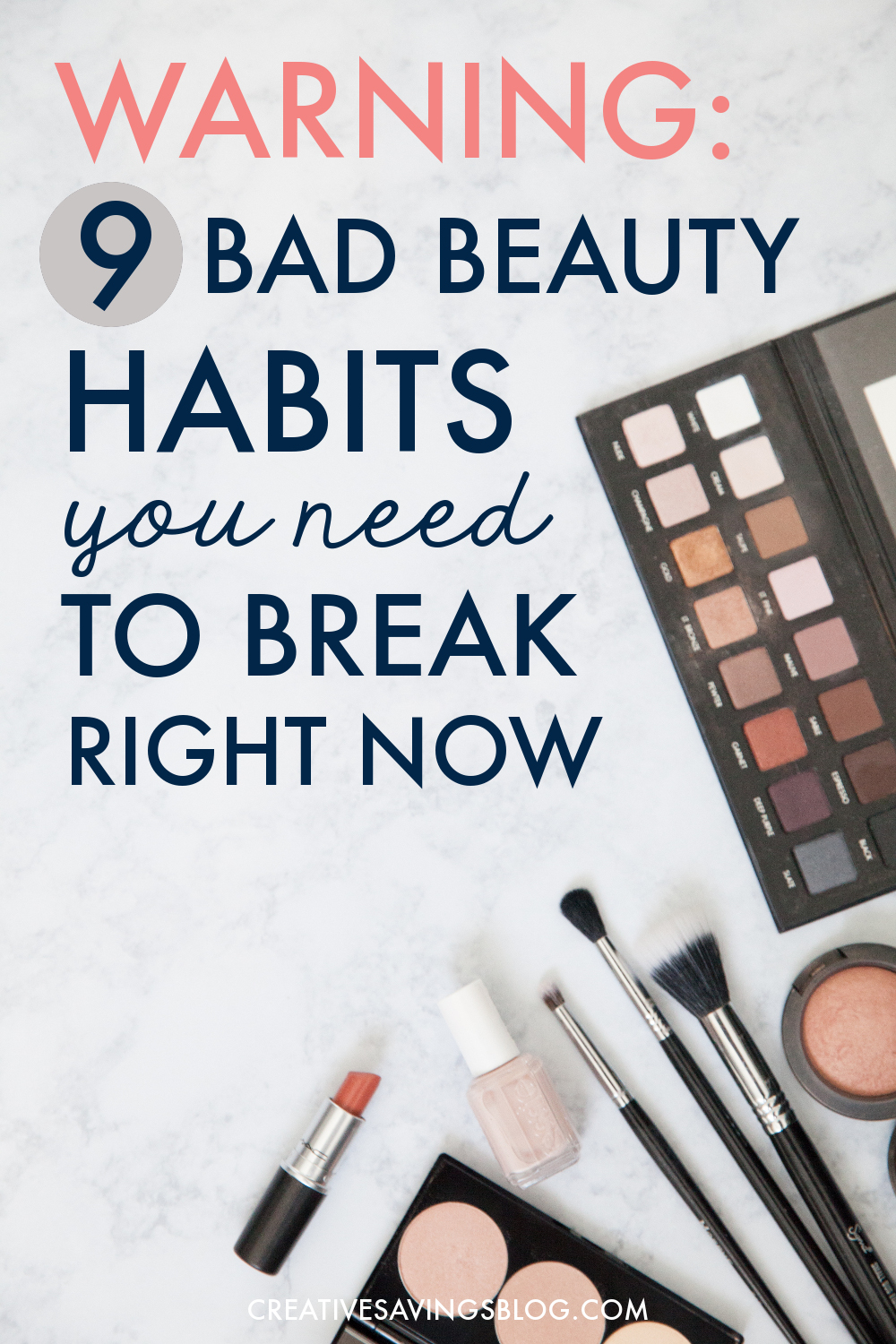 Are you unknowingly practicing one of these beauty no-no's? It's time to break bad habits for good with simple quick fixes you can easily commit to. In the long run, you'll not only fight signs of aging, you'll also look and feel a whole lot healthier! #badbeautyhabits #healthybeautyhabits #beautyhabits #mascaraexpires #noreally