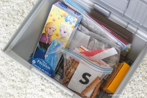 DIY Kids Bin - an activity bin for kids!