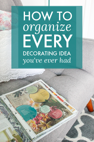 We have the best of intentions when we save decorating ideas for our home, but with Pinterest boards filled to the max and file folders bursting with magazine clippings, it's hard to find what you need, when you need it. This binder organization method is specific to decorating, and houses everything you need to complete your dream look! #homedecor #decoratingideas #homebinder #homedecorbinder #decorating
