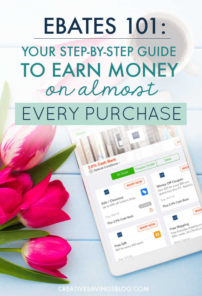 Why didn't I know about Ebates sooner? I can literally get paid to shop!! I wasn't even sure this was legit until I read the post and saw how much this blogger made in the past three years. She does an awesome job of explaining how to use Ebates {which is super simple, by the way} and shares three note-worthy hacks to maximize your earnings. I'm never buying anything again without checking Ebates first! #ebates #ebates101 #moneysavingtips #howtosavemoney #onlineshopping
