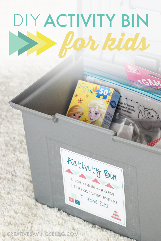 How cute and thoughtful is this!? This girl made a kids activity bin filled with all sorts of kids activities and kids crafts for when her nieces and nephews come to visit. Since I don't have kids, I never have toys lying around either, but I could totally put this together for my friends who have them!