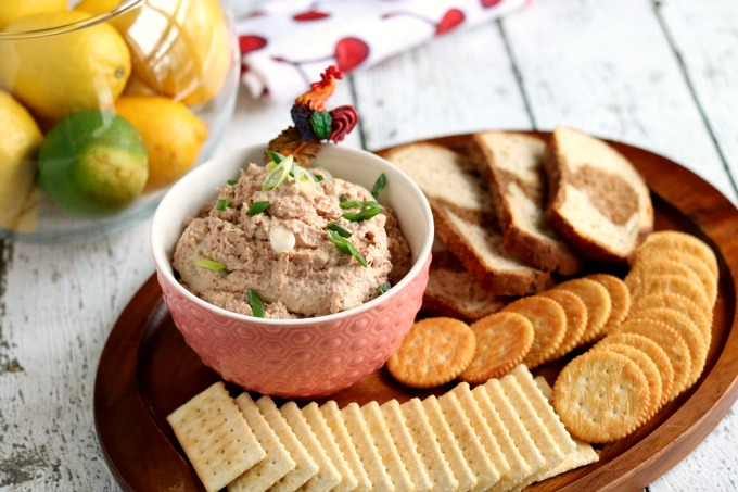 This was always good on some rye bread with a little extra mustard but was a favorite of mine served at parties for finger sandwiches. You can use fresh ham, but using leftover ham works just as well!