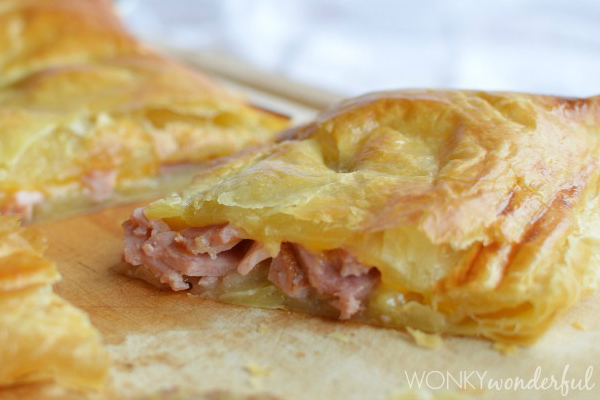 This Ham and Cheese Puffy Pastry Bake looks like an absolutely amazing way to use leftover ham after the holidays!