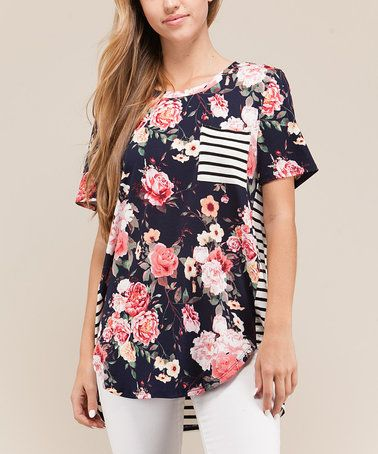 This floral stripe top is just beautiful!