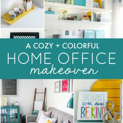 A Cozy and Colorful Home Office Makeover
