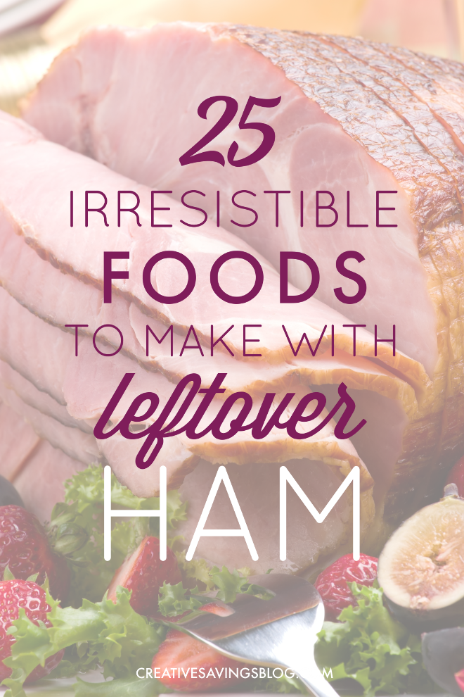You won't have meat going bad with these delicious Leftover Ham Recipes! From comforting soups to cheesy casseroles, there are dozens of ways to turn your Holiday ham into an easy breakfast, lunch, or dinner. #leftoverham #hamrecipeideas #hamrecipes #postholidayhamrecipes