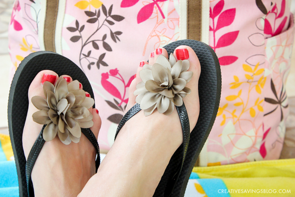 This DIY Flip Flops trick transforms dollar store footwear into cute and stylish beachwear! You won't believe how quick and simple this project is.