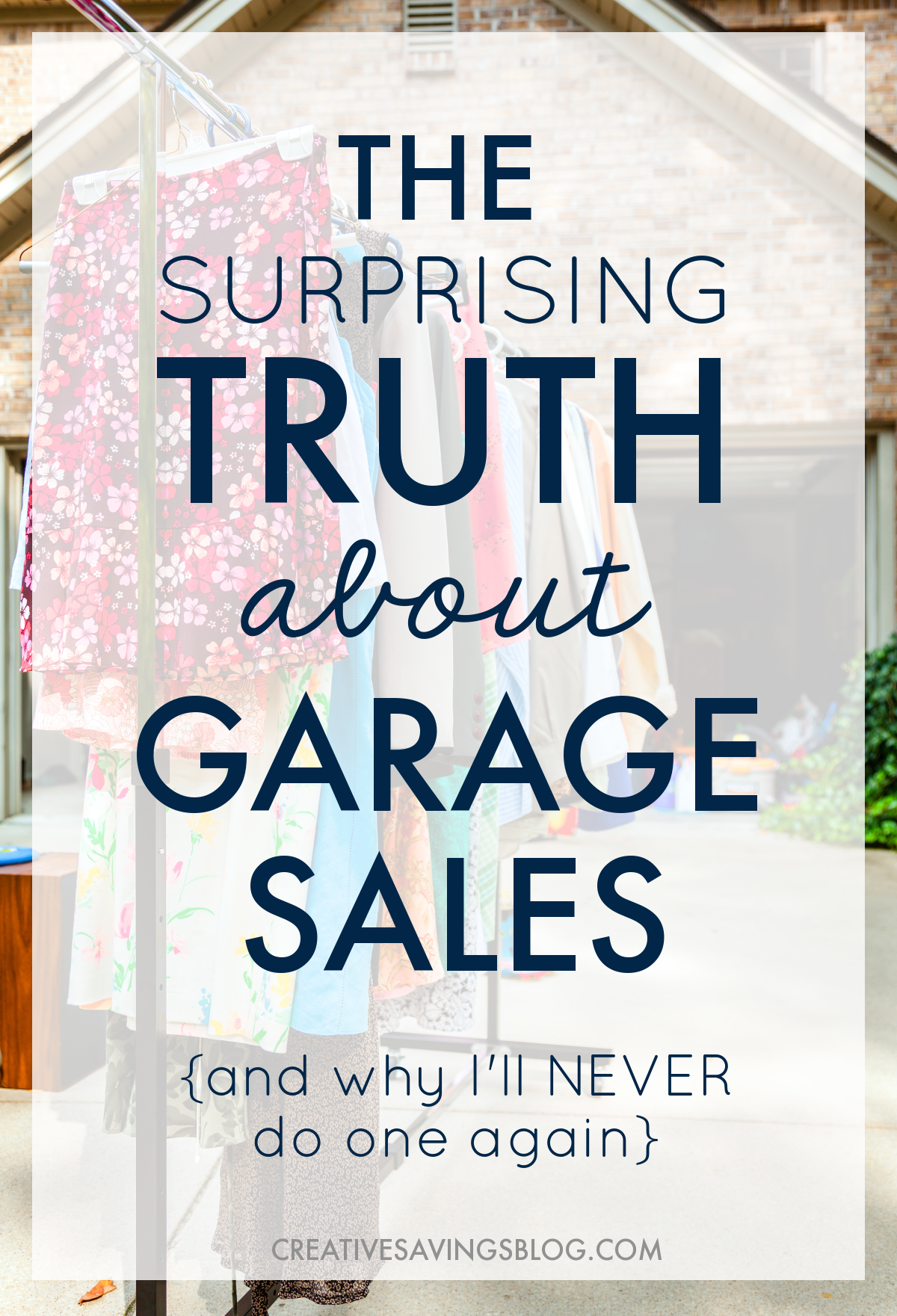 As I looked for garage sale ideas I came across this post that challenged me to wonder: Are Garage Sales Worth It? I can't believe how much sense this makes! Work for several days preparing a sale, sit outside in the sun all day, force myself to talk awkwardly to random strangers, all for fifty bucks! Yeah, I'm going to take this girls advice and save my time. I'll just donate to charity instead. Bonus, I don't have to store stuff any more while I wait for the next garage sale, instead I get rid of clutter right away which helps me live in a clutter free home all year long!