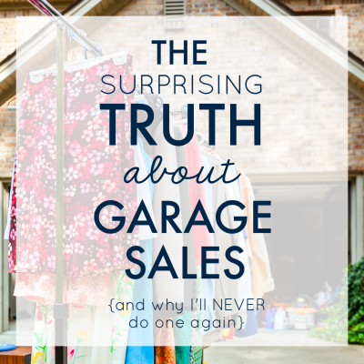 The Surprising Truth About Garage Sales