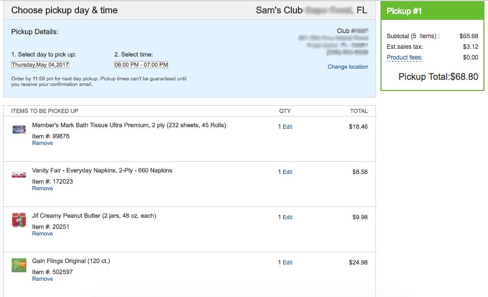 Sam's Club Online - Online ordering is super easy!