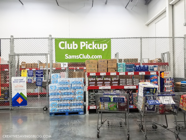 Sam's Club Online - When you arrive, everything you ordered is waiting for you in a cart!