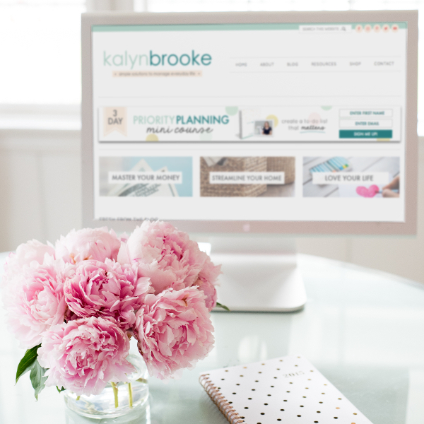 KalynBrooke.com is a premier lifestyle destination dedicated to simplifying the lives of women everywhere. Whether they're managing their home, money, or schedule, this site features practical solutions and creative inspiration to stay on top of it all, without feeling overwhelmed.