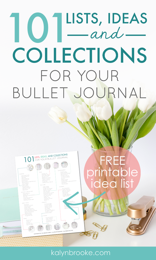 I had been wanting to try bullet journaling for MONTHS, but I just haven't known where to start!  All the customizability of the bullet journal (my favorite feature!) seemed to paralyze me. Then I read this article with all the different options for bullet journal collection ideas and realized just how I could make my bullet journal support everything I do! #bulletjournaling #bulletjournalideas #bujo #bulletjournalcollectionideas