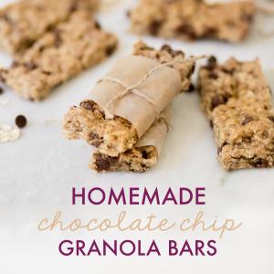 Homemade Chocolate Chip Granola Bars