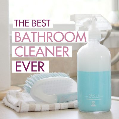 The Best Bathroom Cleaner Ever {Removes Soap Scum in Seconds!}