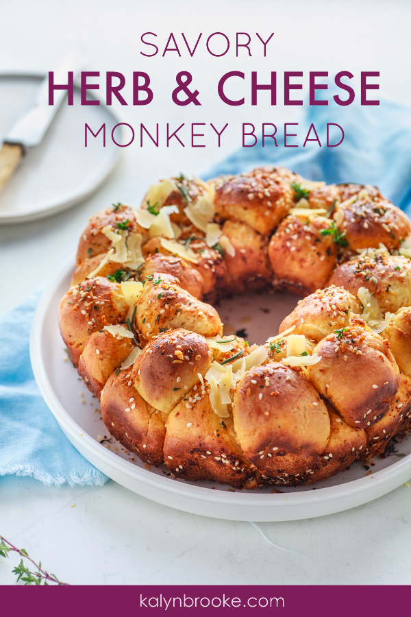 You have GOT to try this Savory Monkey Bread Recipe! Delicious! Amazing! And best of all, EASY! This is the perfect bread dish for your big family gathering, whether it's Thanksgiving dinner, Christmas, or just because! Oh, and it tastes great as a leftover too. Just heat it up in the microwave!