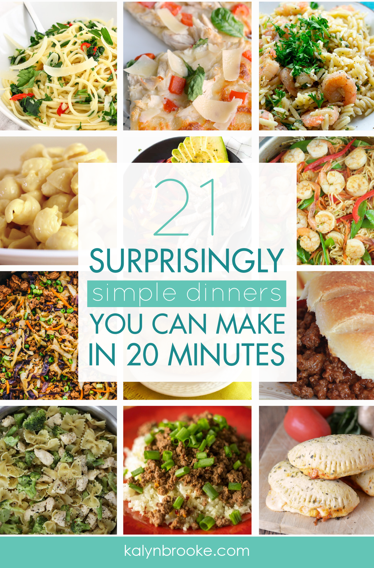 These 21 surprisingly simple dinners are exactly what I needed for my meal planning anxiety. Personally, I HATE meal planning. BUT it really is the best way to save time in the kitchen and get rid of unnecessary last minute trips to the grocery store. So I try to make it easier by having a good list of great tasting, easy recipes that I can repeat over and over! #simpledinners #quickdinners #easydinnerrecipes #easydinners #weeknightdinnerrecipes