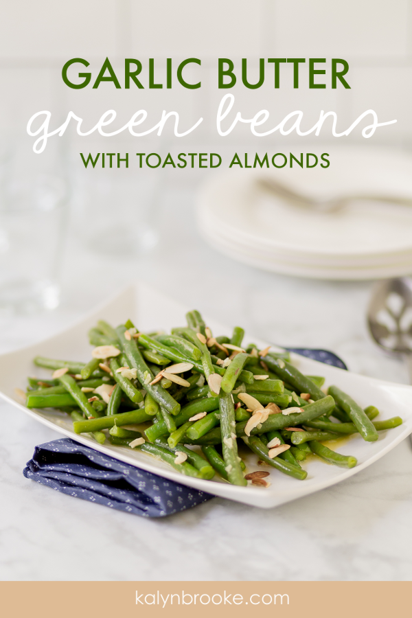 A side of green beans and almonds is a delightful addition to chicken or steak, and the garlic-butter sauce drenches these fresh veggies with irresistible flavor. With a handful of almonds sprinkled on top, you have a professional looking dish to serve alongside your Thanksgiving or Christmas dinner!