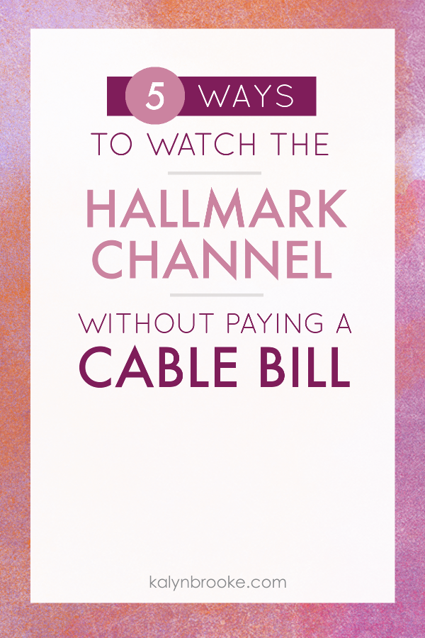 "Every time I want to ""cut the cord"", my mom reminds me that I'll lose the Hallmark channel. I know one channel isn't worth what my cable bill is...but...hello...HALLMARK MOVIES! Then I stumbled upon this post of different ways to stream The Hallmark Movie without cable. Who knew it was this easy!? #hallmarkmovies #hallmarkchannel #nocable #cutcable"