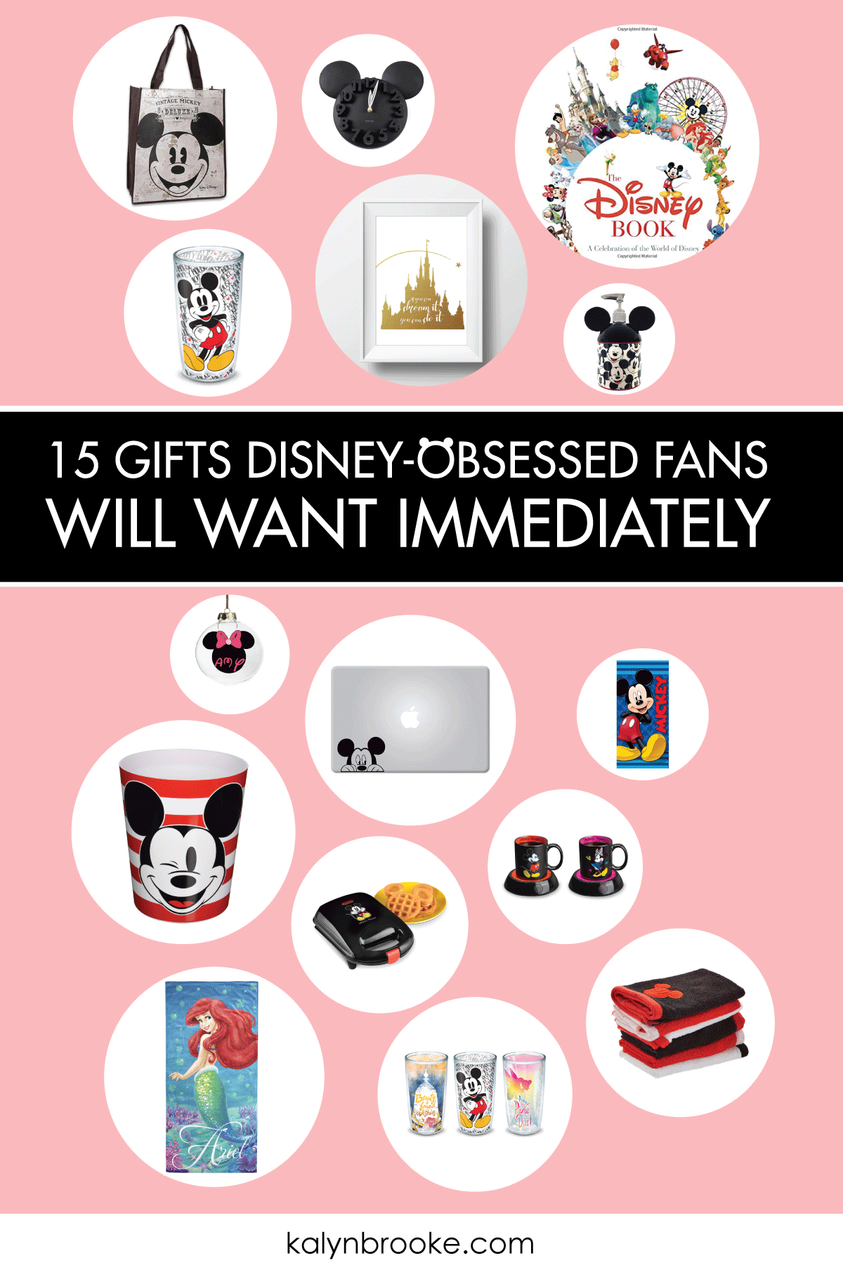 Use this Disney Gift Guide as your one stop shop for the Disney-obsessed fan in your life. With 15 awesome and affordable options to reignite that one-of-a-kind Disney magic, you're sure to make everyone feel like a kid again! #disneygiftideas #disneyobsessed #disney #giftideas