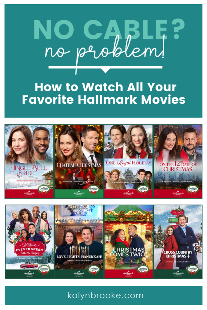"""Every time I want to """"cut the cord"""", my mom reminds me that I'll lose the Hallmark channel. I know one channel isn't worth what my cable bill is...but...hello...HALLMARK MOVIES! (Don't forget Christmas movies too!) Then I stumbled upon this post of different ways to stream the Hallmark Channel without cable. Who knew it was this easy!?"""
