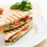 Grilled Tomato-Basil and Mozzarella Panini
