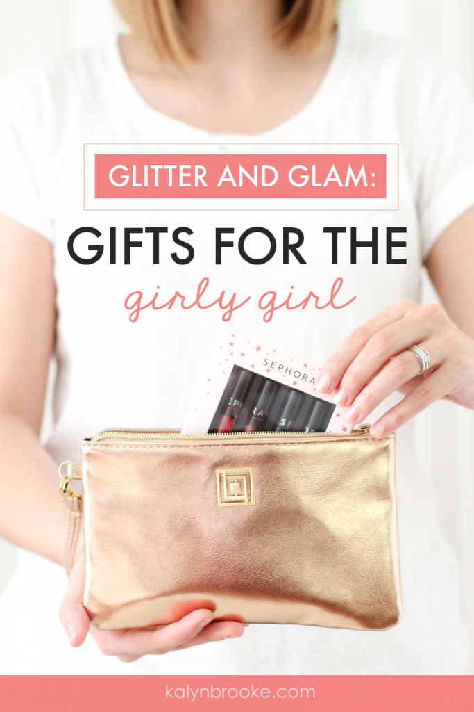 Christmas morning will be extra special with these sparkly and shiny gifts for the girly girl. Best of all, you can pick them upfrom one storeand come in under budget without scrimping on quality! #giftideasforgirls #girlygiftideas #glitterygifts #glamgifts