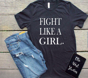 Navy Blue I Fight Like a Girl Shirt & Jeans