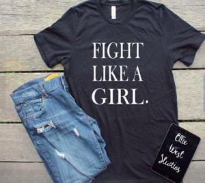 Navy Blue I Fight Like a Girl Shirt & Jeans