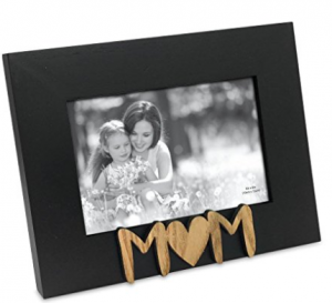 black picture frame with MOM embellishment
