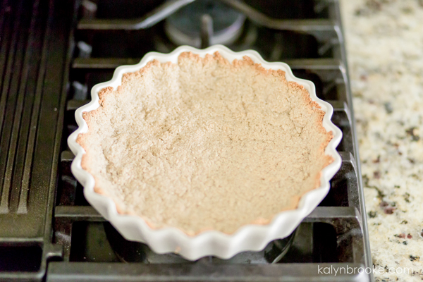 crust in a tart pan