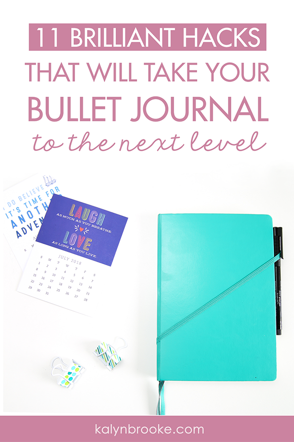 Okay, so here's the deal: I totally love my bullet journal but some weeks I fall off the wagon because I lose my pen or can't remember what page a note is on, etc. Basically, I was an overwhelmed bullet journalist in need of bullet journal hacks that actually work to make the system work for me! These are exactly what I needed!