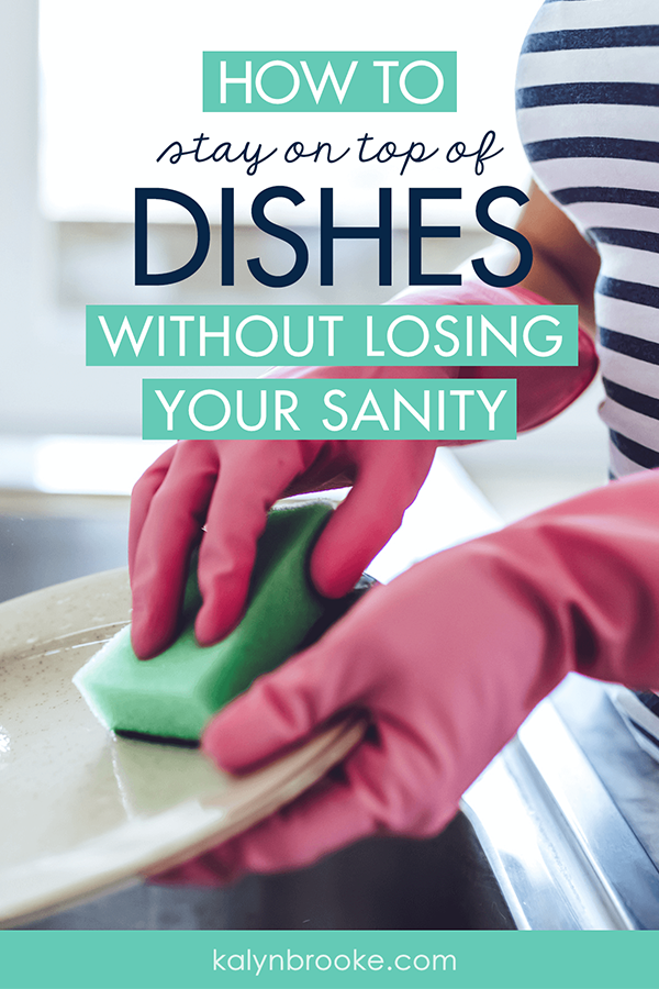 My least favorite household chore: dishes. My husband's least favorite household chore: dishes! The kitchen can become WWIII before we finally tackle them--and then it takes HOURS. But I am determined to get {and stay!} on top of dishes once and for all! #4 will make all the difference! #howtododishes #kitchenhacks #dishwashing