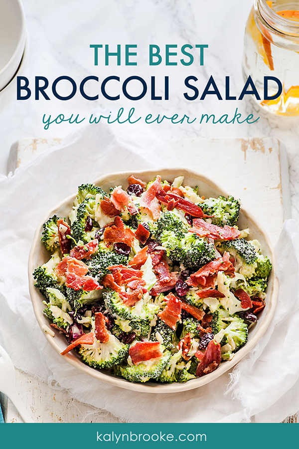 Hate broccoli? Me, too! Yet I'm pleasantly surprised at the mix of flavors in this epic broccoli salad with cheese. Maybe it's the craisins, maybe it's the bacon, but I know I'm bringing to the next family picnic! #broccolisalad #amazingrecipes