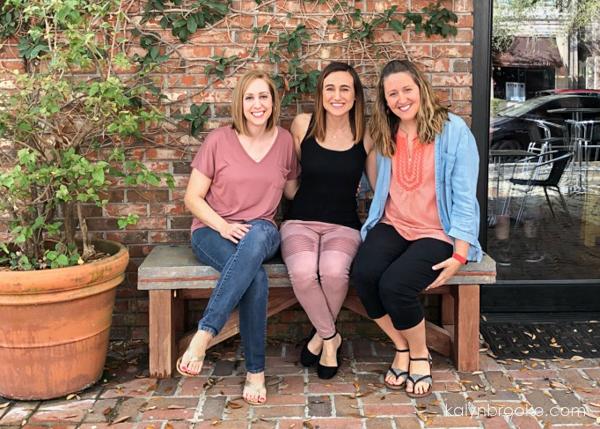 three women sitting together, friends