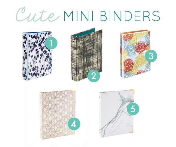 mini binder options