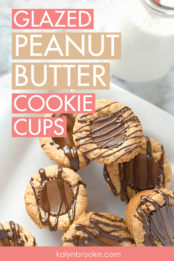 I am a peanut-butter-aholic! These Reese's peanut butter cup cookies are my new absolute fave! Don't let the look of them fool you into thinking they take hours to prepare, either. They come together SO quickly! I'm taking this to the company cookie exchange! #easycookiemix #peanutbuttercookiecups #peanutbuttercookierecipe #peanutbuttercookies