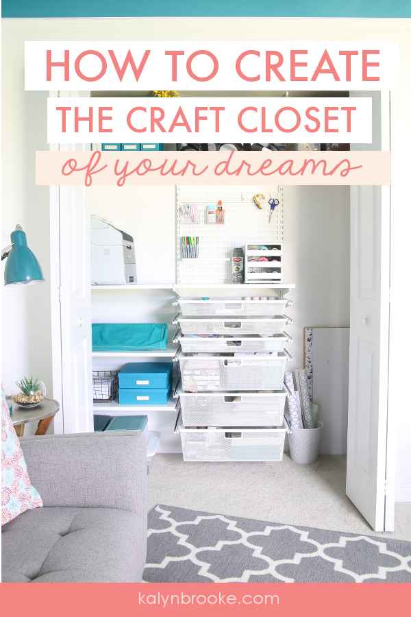 My craft supply collection has had almost no organization ... for years. But I am tired of the mess--and of supplies tumbling down onto my head when I open the door or a drawer! This 5-step process was exactly what I needed--especially #2. #craftclosetorganization #organizingcraftsupplies #craftorganization